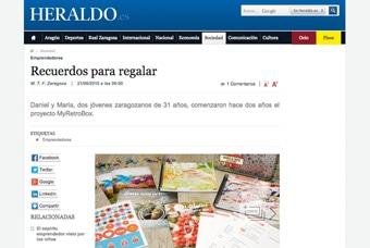 Cápsulas del tiempo MyRetrobox en Heraldo de Aragón
