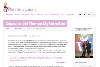 Cápsulas del tiempo MyRetrobox en Pintando una Mamá