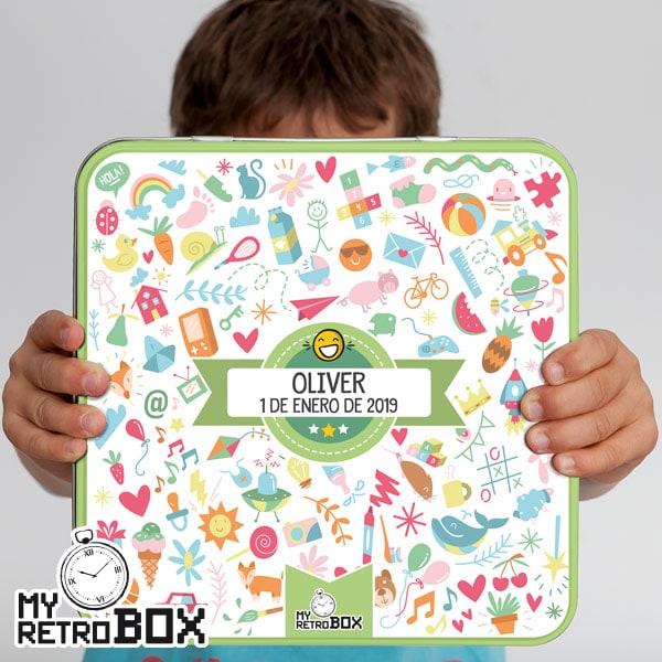 Caja metálica Baby Retrobox bautizo