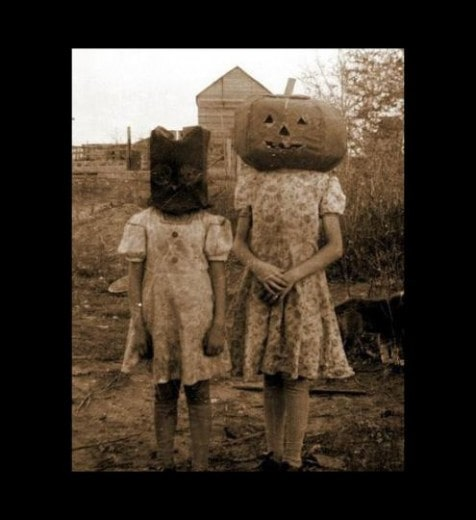 Retro Halloween - Niñas adorables