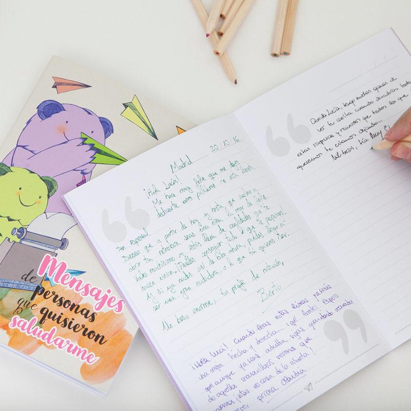 Ideas para las comuniones de 2021: libreta mensajes Peque Retrobox