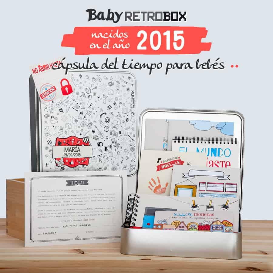 Cápsula del tiempo bebés Baby Retrobox: nacidos en el año 2015