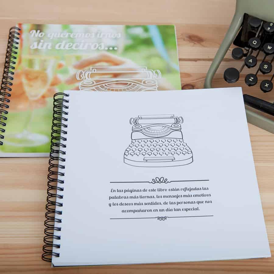 Capsula del tiempo bodas Retrobox Sí Quiero: Libro de firmas