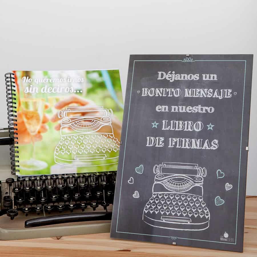 Capsula del tiempo bodas Retrobox Sí Quiero: Lámina libro de firmas