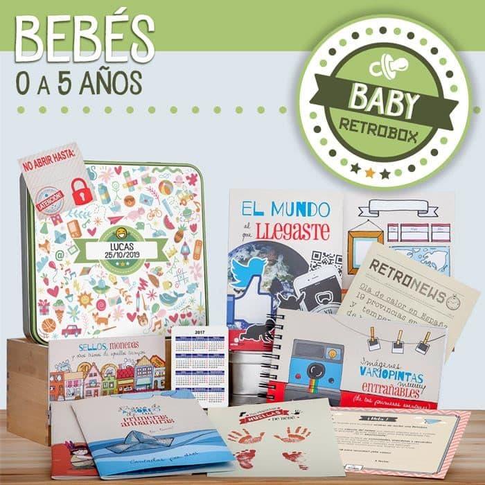 Cápsula del tiempo bebé - Baby Retrobox - Regalo original bebe