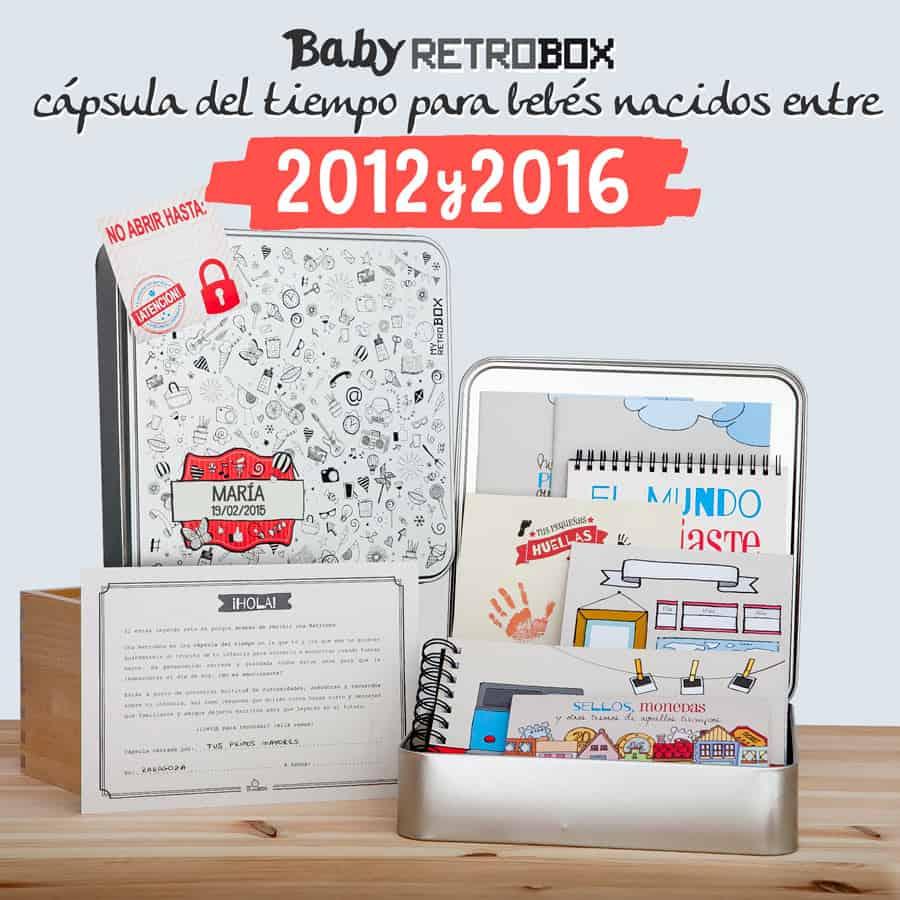 Cápsula del tiempo bebés Baby Retrobox