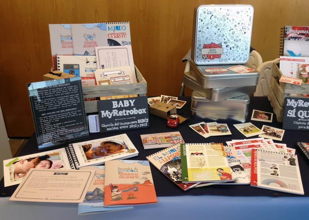 Cápsula del tiempo para bebés Baby MyRetrobox en la X FTVW