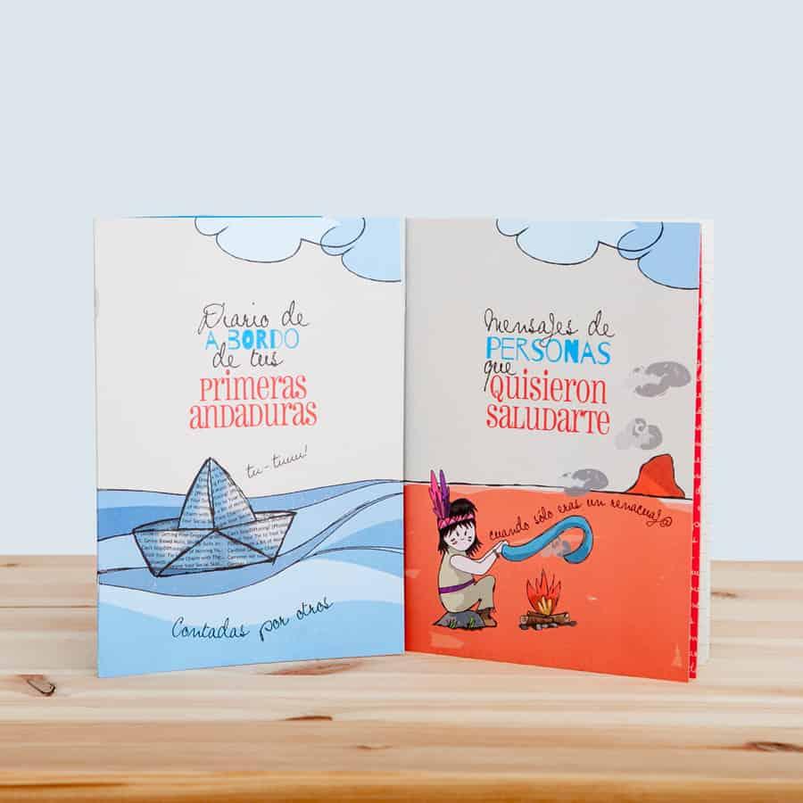 Cápsula del tiempo para niños y niñas Peque Retrobox: diario y libreta de mensajes
