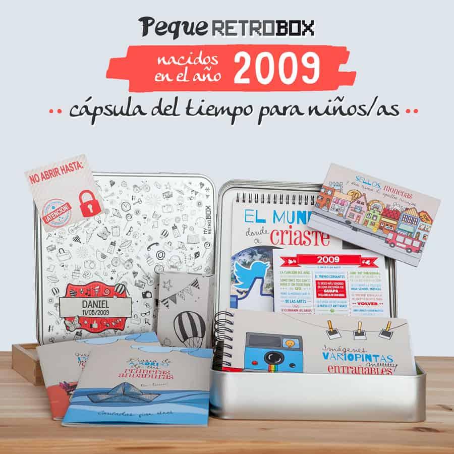 Cápsula del tiempo para niños Peque Retrobox 2009