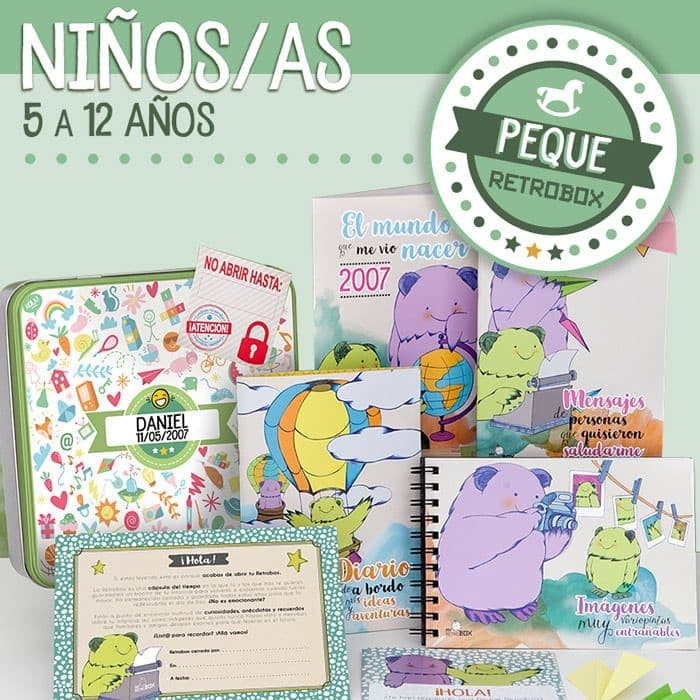 Peque Retrobox · Regalo original para niño y niña