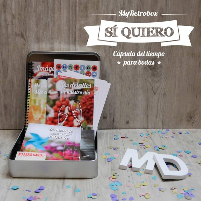 MyRetrobox Sí Quiero | Cápsula del tiempo para bodas