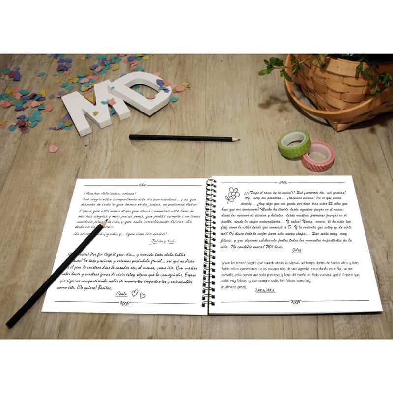 My Retrobox Sí Quiero | Libro de firmas: Ejemplo de interior rellenado