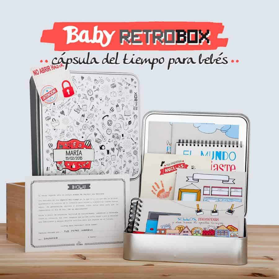 Cápsula del tiempo para bebés Baby Retrobox: el regalo más original para un bebé