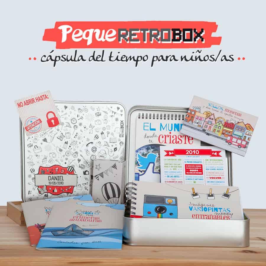 Cápsula del tiempo para niños Peque Retrobox: el regalo más original para un niño o niña