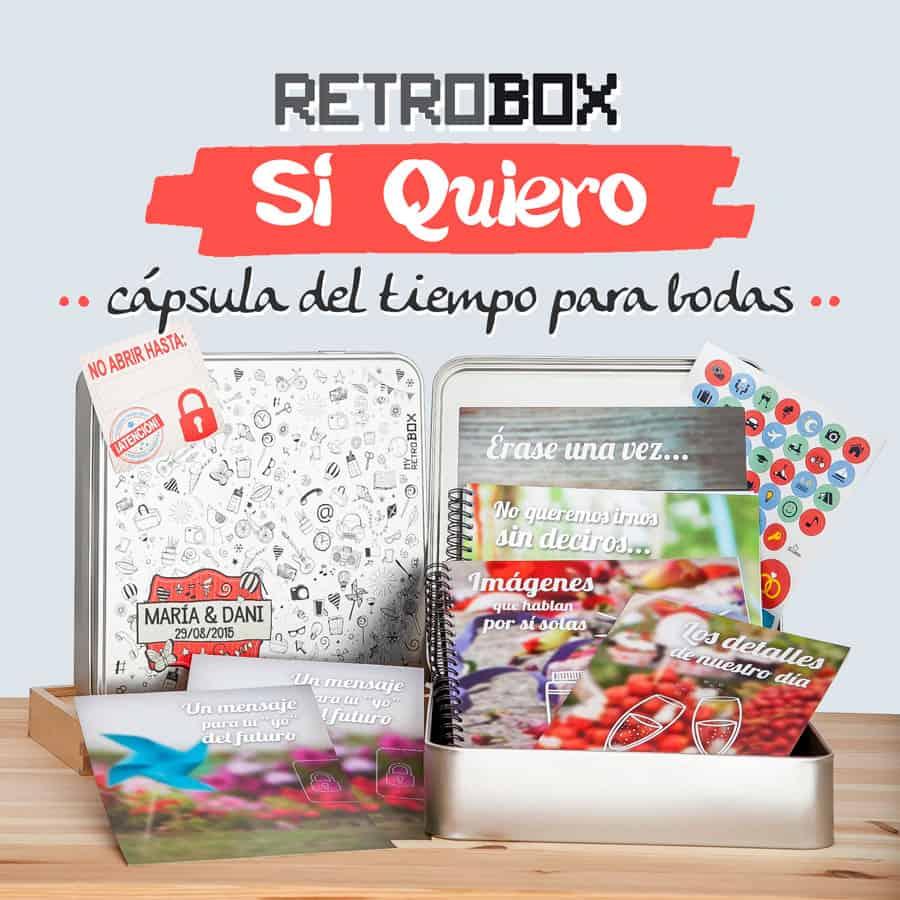 Cápsula del tiempo para bodas Retrobox Sí Quiero: el regalo más original para una boda