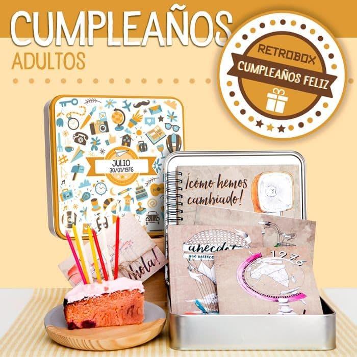 Cápsula del tiempo para cumpleaños de adultos