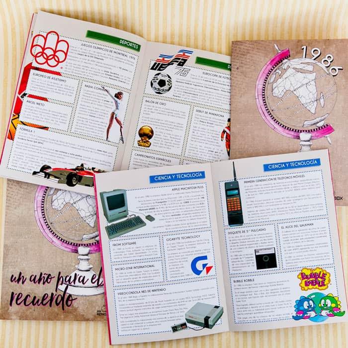 Retrobox Cumpleaños Feliz: cuaderno año de nacimiento