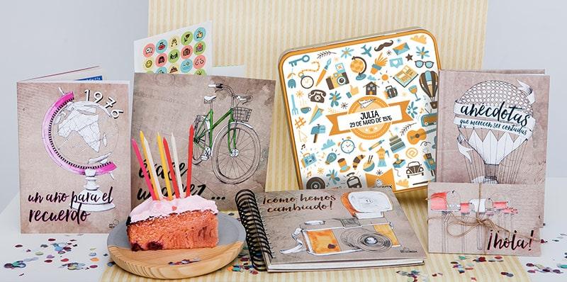 Cápsula del tiempo adultos Retrobox Cumpleaños Feliz