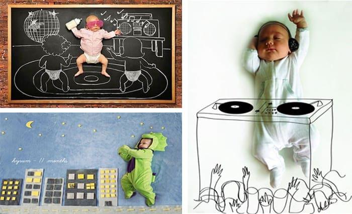 Primer año del bebé: dibujos y disfraces