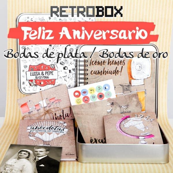 Regalo aniversario bodas | Retrobox Feliz Aniversario