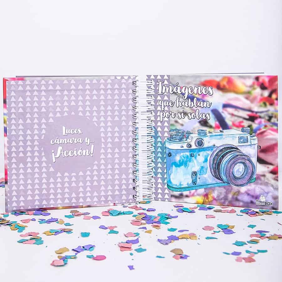 Cápsula del tiempo bodas Retrobox Sí Quiero: álbum fotos