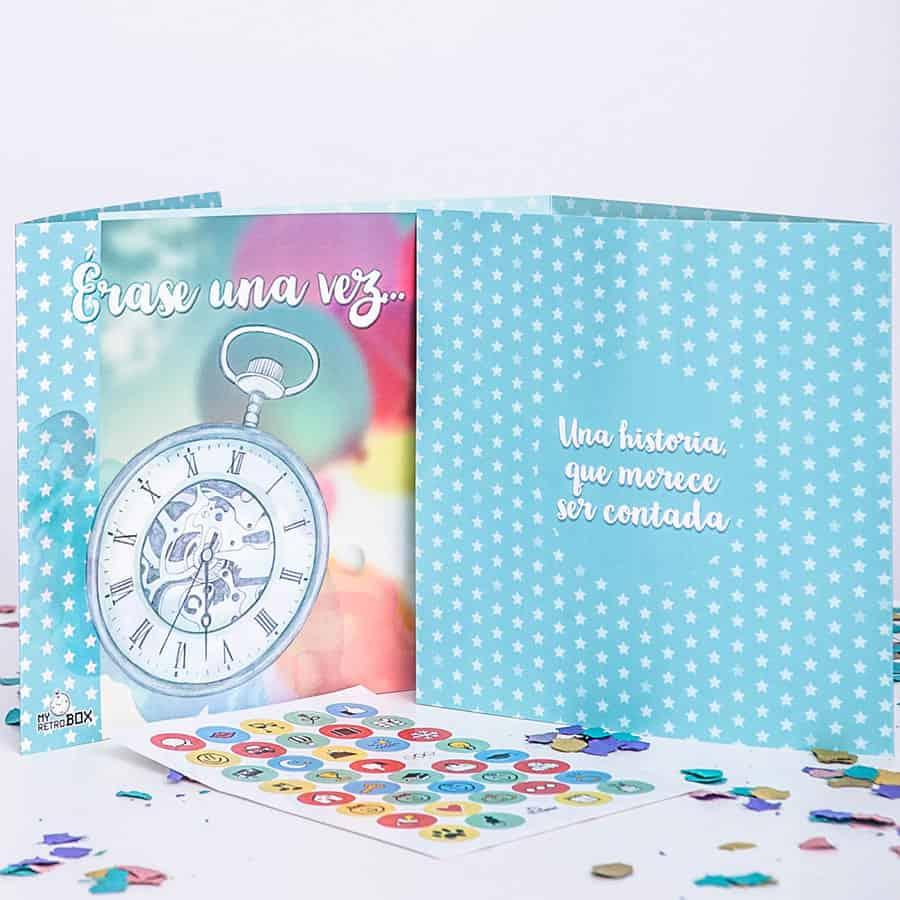 Cápsula del tiempo bodas Retrobox Sí Quiero: cronología de la pareja