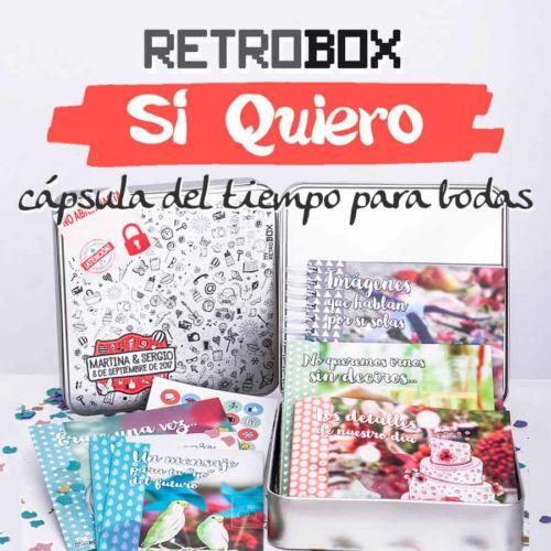 Cápsula del tiempo bodas Retrobox Sí Quiero: regalo original boda