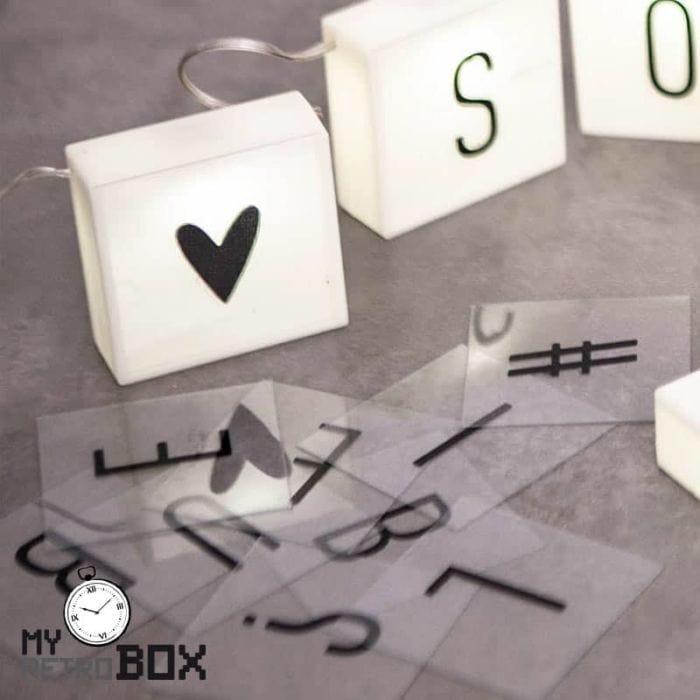 Cajitas luz letras