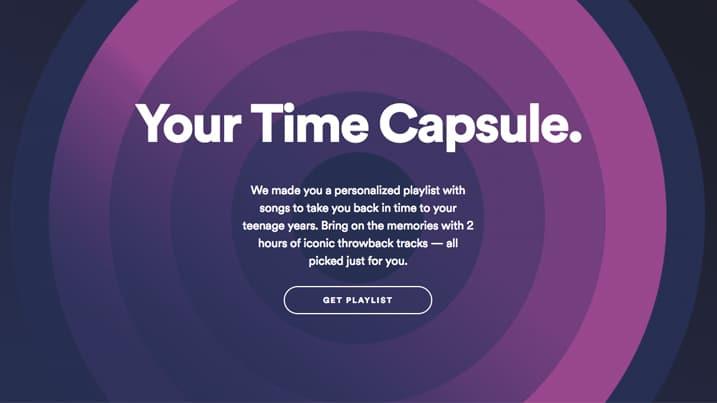 Cápsula del tiempo de Spotify