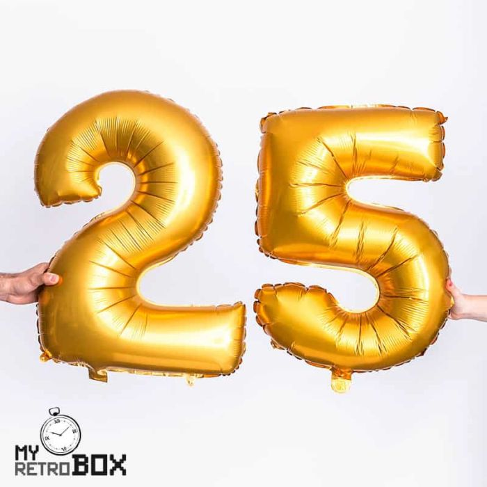 Globos dorados números grandes para fiestas