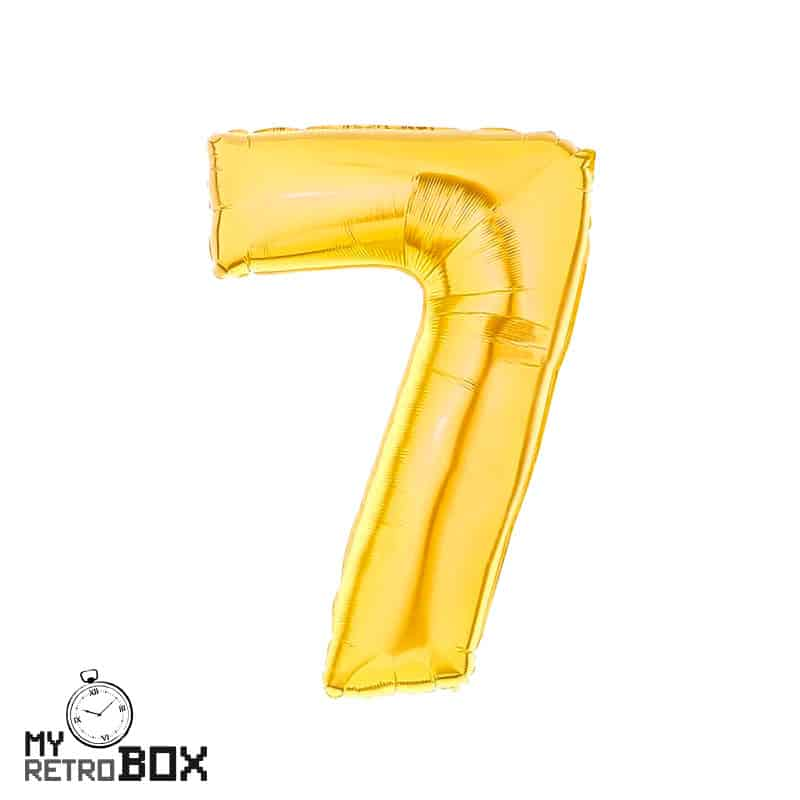 Globo dorado número 7