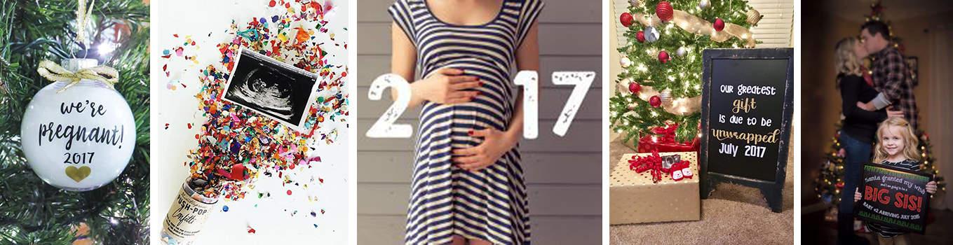 Foto anuncio embarazo Navidad