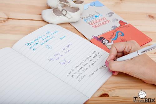 Libreta de dedicatorias para el bebé