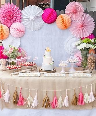 Decoración con globos de papel