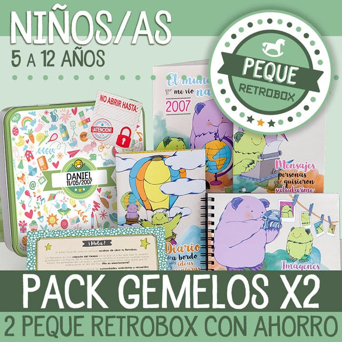 Peque Retrobox Twins Editions - Regalo gemelos