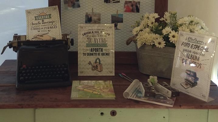 Ideas para colocar un libro de firmas en una boda