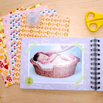 Ejemplo scrapbooking bebes Washi