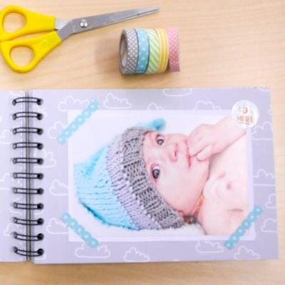 Ejemplo scrapbooking bebes Washi Tape