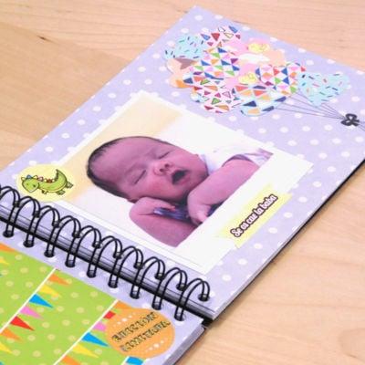 Ejemplo scrapbooking bebes Globos