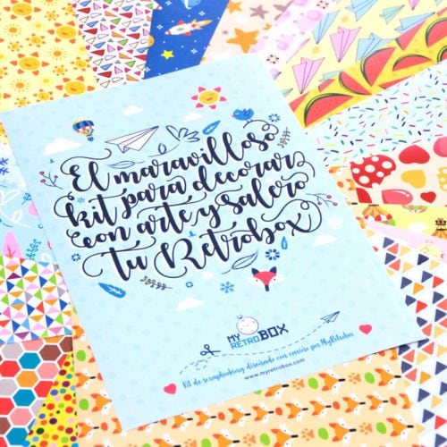 Kit Scrapbooking para Baby Retrobox