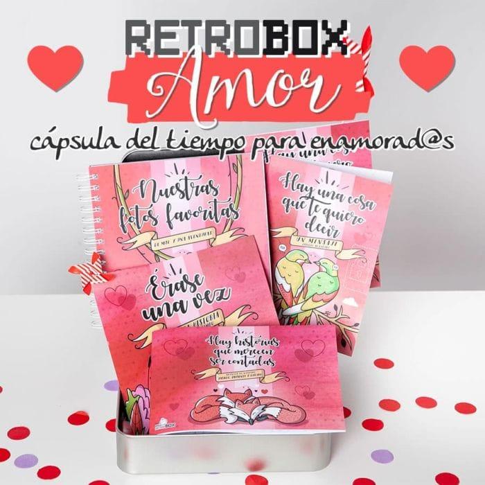 Retrobox Amor · Cápsula del tiempo para enamorados