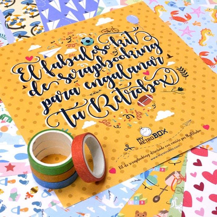 Papeles scrap Retrobox Cumpleaños Feliz y Retrobox Feliz Aniversario