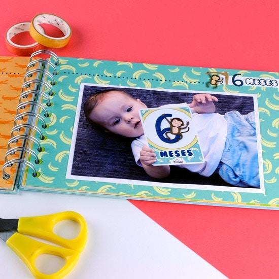Álbum fotos bebé 6 meses