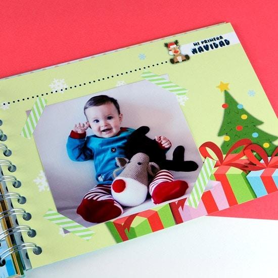 Álbum fotos bebé Navidad