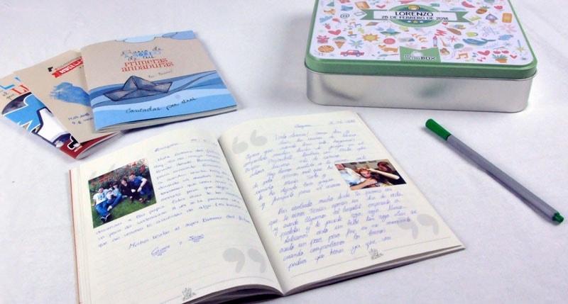 Libreta de dedicatorias para bebés con fotos
