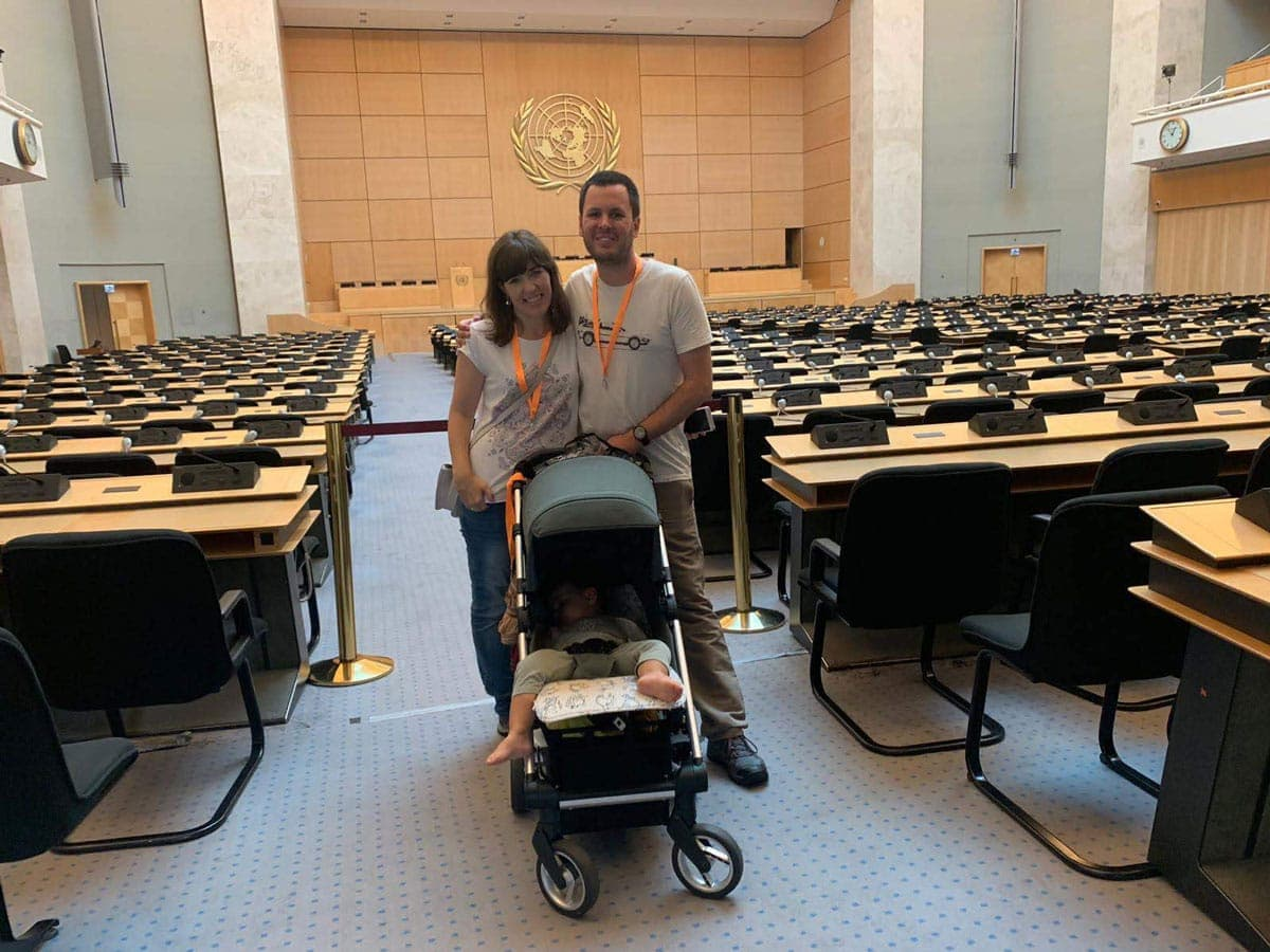 Visita Palacio de Naciones Ginebra, cápsula del tiempo