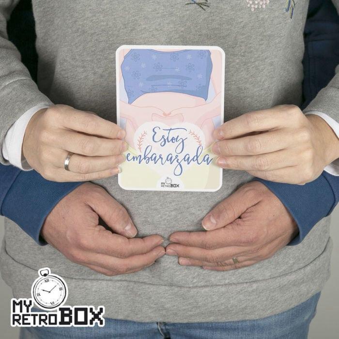 Estoy embarazada - Anuncio con tarjetas