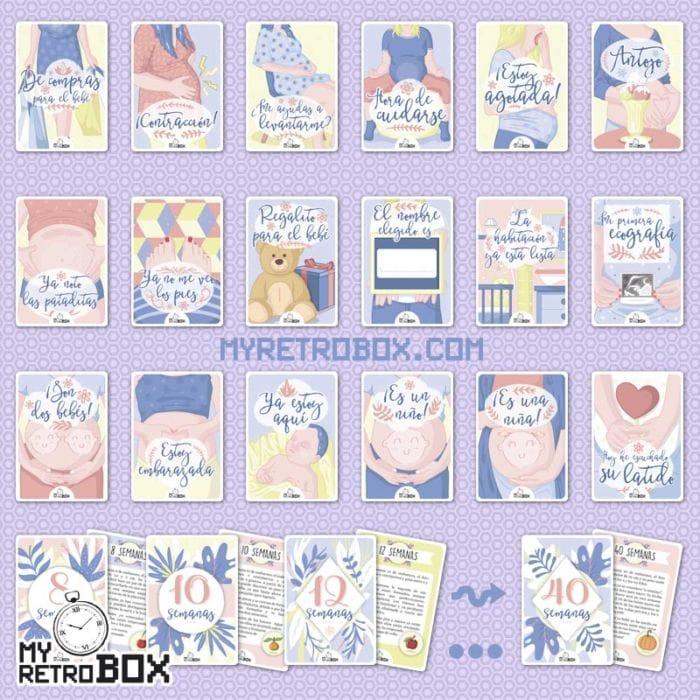 Tarjetas hitos embarazo MyRetrobox