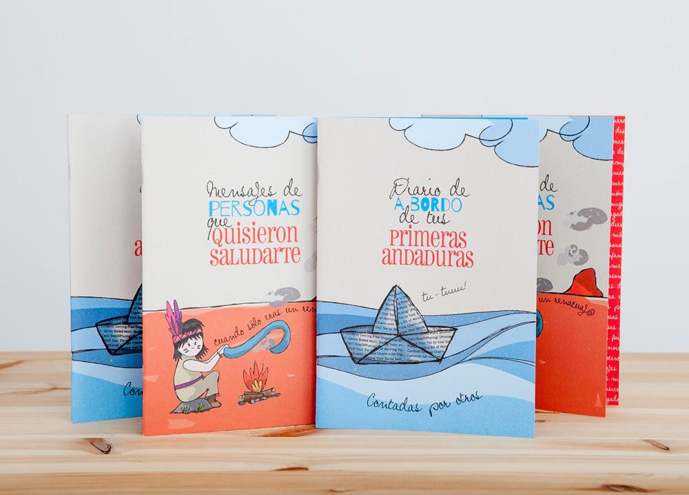 Diario y libro de firmas de regalo para bebé